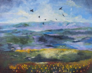 View From the Ridge: Raven Dance, available as a Giclee Wrap Canvas print